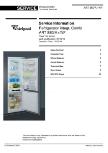 Whirlpool ART 880 A+ NF refrigerator Service Manual | eBooks | Technical