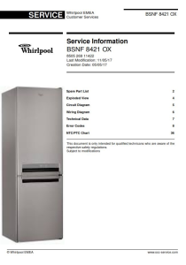 Whirlpool BSNF 8421 OX refrigerator Service Manual | eBooks | Technical