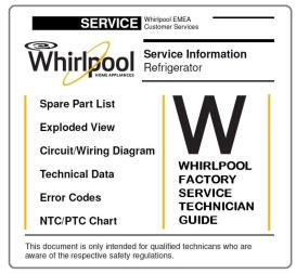 Whirlpool BSNF 9452 OX refrigerator Service Manual | eBooks | Technical