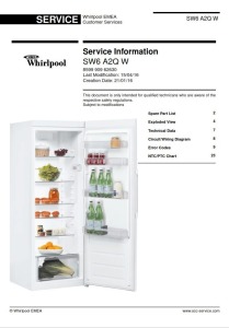Whirlpool SW6 A2Q W refrigerator Service Manual | eBooks | Technical