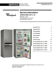 Whirlpool WBA 4398 NFC IX refrigerator Service Manual | eBooks | Technical