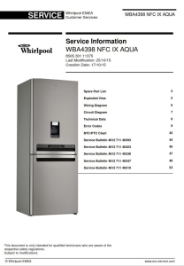 Whirlpool WBA4398 NFC IX AQUA refrigerator Service Manual | eBooks | Technical