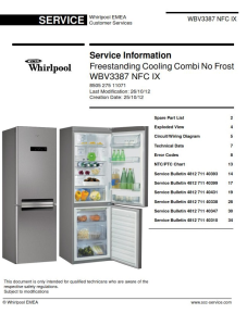 Whirlpool WBV3387 NFC IX refrigerator Service Manual | eBooks | Technical