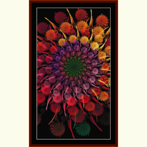 Fractal 630 cross stitch pattern by Cross Stitch Collectibles | Crafting | Cross-Stitch | Wall Hangings
