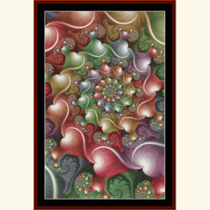 fractal 632 cross stitch pattern by cross stitch collectibles