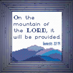 on the mountain - genesis 22:14 chart