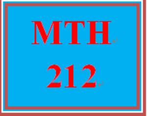 MTH 212 Week 4 MyMathLab® Week 4 Checkpoint | eBooks | Education