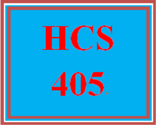First Additional product image for - HCS 405 Entire Course