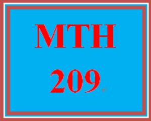 MTH 209 Week 4 Videos | eBooks | Education