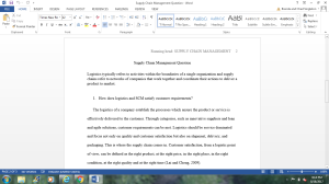 Supply Chain Managment Question | Documents and Forms | Research Papers