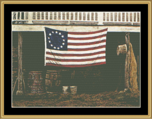 American | Crafting | Cross-Stitch | Wall Hangings