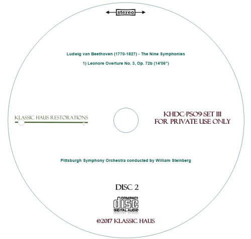 Second Additional product image for - Beethoven: 9 Symphonies Set III: Leonore No. 3/Sym. No. 9 - PSO/Steinberg