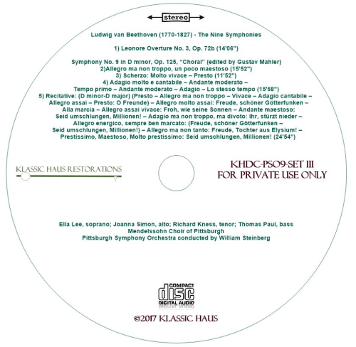 First Additional product image for - Beethoven: 9 Symphonies Set III: Leonore No. 3/Sym. No. 9 - PSO/Steinberg