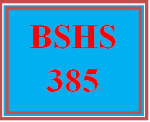 BSHS 385 Week 1 Interview Scenario | eBooks | Education