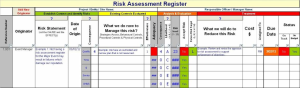 Risk Register | Documents and Forms | Spreadsheets