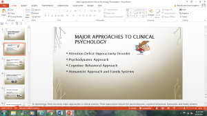 Major Approaches to Clinical Psychology Presentation | Documents and Forms | Research Papers