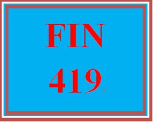 FIN 419 Week 2 Learning Team Charter | eBooks | Education