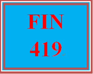 fin 419 week 4 stock valuation
