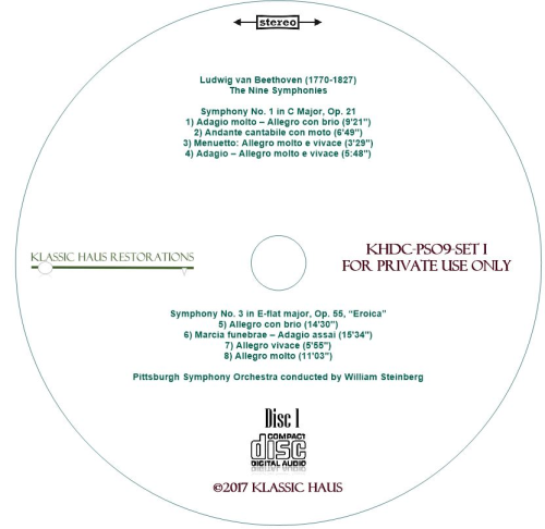 Second Additional product image for - Beethoven: 9 Symphonies Set I: Symphonies Nos. 1-2-3-5 - PSO/Steinberg