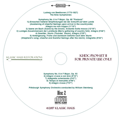 Third Additional product image for - Beethoven: 9 Symphonies Set II: Symphonies Nos. 4-6-7-8 - PSO/Steinberg