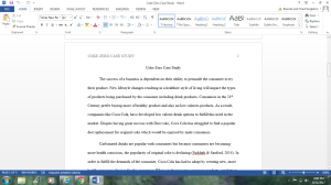 Coke Zero Case Study | Documents and Forms | Research Papers
