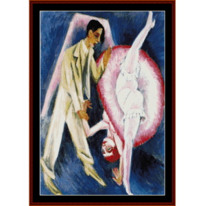 Couple Dancing - E.L. Kirchner cross stitch pattern by Cross Stitch Collectibles | Crafting | Cross-Stitch | Wall Hangings