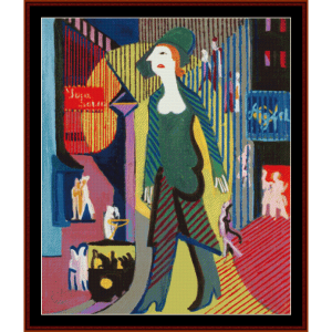 Night Street - E.L.Kirchner cross stitch pattern by Cross Stitch Collectibles | Crafting | Cross-Stitch | Wall Hangings