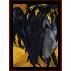 Women on the Street - E.L. Kirchner cross stitch pattern by Cross Stitch Collectibles | Crafting | Cross-Stitch | Wall Hangings