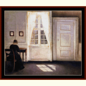 Interior, 1904 - Hammershoi cross stitch pattern by Cross Stitch Collectibles | Crafting | Cross-Stitch | Wall Hangings