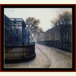 Montague Street, London - Hammershoi cross stitch pattern by Cross Stitch Collectibles | Crafting | Cross-Stitch | Wall Hangings