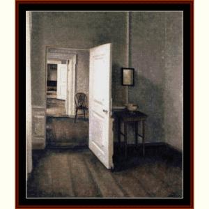 Open Door - Hammershoi cross stitch pattern by Cross Stitch Collectibles | Crafting | Cross-Stitch | Wall Hangings