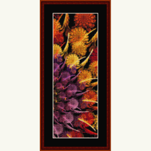 fractal 630.2 bookmark cross stitch pattern by cross stitch collectibles
