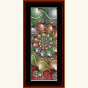 fractal 632 bookmark cross stitch pattern by cross stitch collectibles