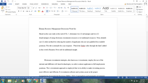 Human Resource Discussion Question | Documents and Forms | Research Papers
