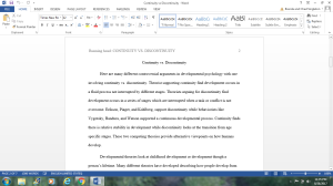 Continuity vs Discontinuity | Documents and Forms | Research Papers