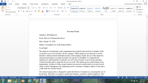 English 315 Procedural email | Documents and Forms | Research Papers