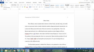 Ethics Essay | Documents and Forms | Research Papers