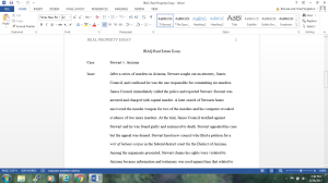 IRAC real property essay   Documents and Forms   Research Papers
