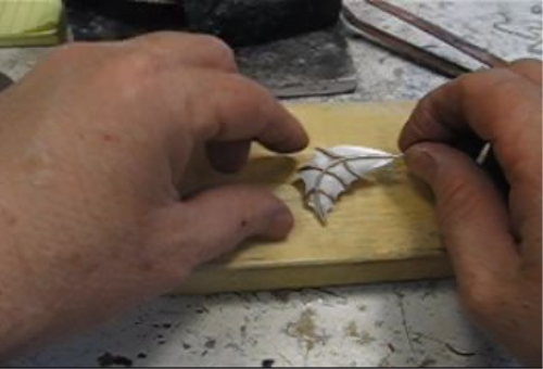 Fourth Additional product image for - Leaves, How to Make Your Own, taught by Don Norris, Silversmithing for jewelry making.