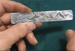 overlay piece taught by don norris, silversmithing for jewelry making.