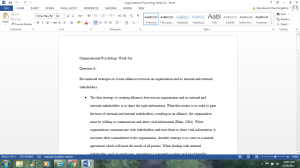 Organizational Psychology Week Six DQs | Documents and Forms | Research Papers