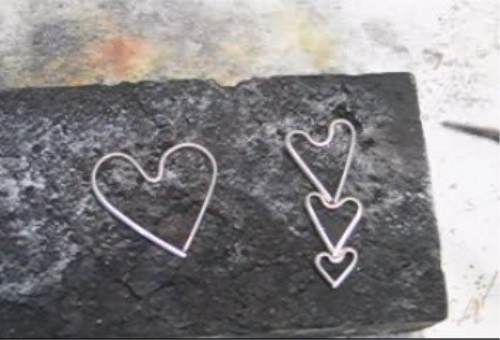 Third Additional product image for - Simple Project, Wire Hearts taught by Don Norris, Silversmithing for jewelry making.