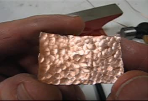 First Additional product image for - Textures, Hammered Finish taught by Don Norris, Silversmithing, for making Jewelry