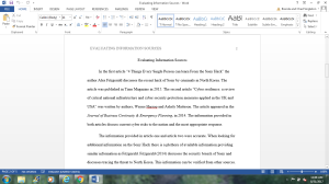 Evaluating Information Sources   Documents and Forms   Research Papers