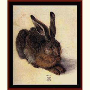 Hare, 1502 - Durer cross stitch pattern by Cross Stitch Collectibles | Crafting | Cross-Stitch | Wall Hangings