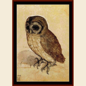 Little Owl, 1508 - Durer cross stitch pattern by Cross Stitch Collectibles | Crafting | Cross-Stitch | Animals
