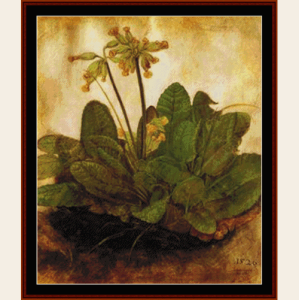 primula, 1520 - durer cross stitch pattern by cross stitch collectibles