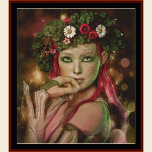 Elven Maiden - Fantasy cross stitch pattern by Cross Stitch Collectibles | Crafting | Cross-Stitch | Wall Hangings