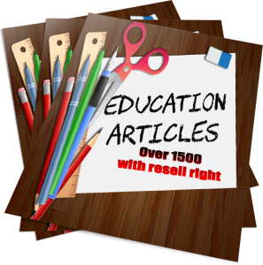 1500 educational articles with resell rights