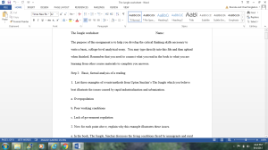 Jungle Worksheet | Documents and Forms | Research Papers